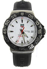 WAH1111.BT0714 Tag Heuer Mens Watch Formula 1 White Quartz Rubber Swiss Watch