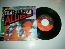 "CROSBY STILLS & NASH - WAR GAMES..UNPLAYED ITALIAN 7"" ATLANTIC RECORDS VINYL"