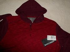 Modern Culture Mens Sz Large Maroon Established Hoodie Henley Shirt New $42 NWT