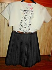 ZOE LTD. LITTLE GIRLS SIZE 10 GORGEOUS BLACK/WHITE SPECIAL OCCASION PARTY DRESS