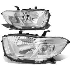 Chrome 2008-2010 Toyota Highalnder Sport SR5 Clear Corner Headlights Clear Lens