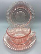 Vintage Original Art Glassware Date-Lined Glass Pink