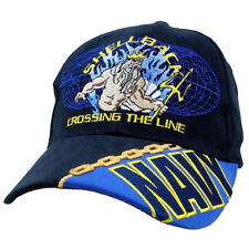 96446752b45ea Shellback Crossing The Line Poseidon Navy Cotton Ball Cap Hat Hh7