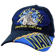 Shellback Crossing The Line Poseidon Navy Cotton Ball Cap Hat Hh7 6350b77f5233