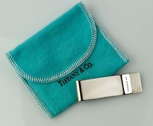 "Excellent 2.25"" Tiffany & Co. Sterling Money Clip BM52"