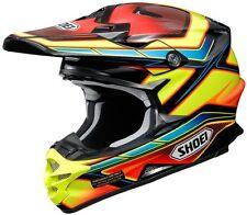 Nuevo Shoei VFX-W Casco Condensador TC3 Rojo Amarillo Azul Motocross Mx Fuera De Carretera BMX