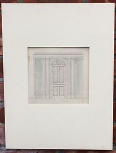 19Th Century London England Interior Doorway Design Drawing By Banting & Sons