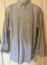 Tommy Hilfiger Ithaca 100% Cotton Mens Extra Large 17.5 34-35 Blue Striped Shirt