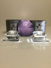 Vintage Gorgeous Swarovski Silver Crystal 2 Candle Holders