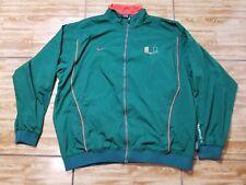 Vintage Men's Nike Miami Hurricanes Green Full Zip Pullover Jacket Size XL
