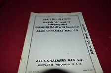 Allis Chalmers Gleaner R & A Combine Dealer's Parts Book HMPA