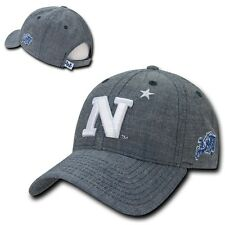 NCAA USNA United States Naval Academy Cotton Structured Denim Caps Hats Blue