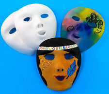 Childrens Masks - Plain with elastic. Personalise and decorate X 6