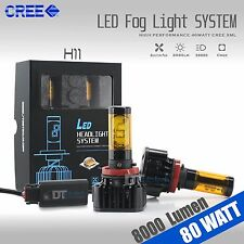 80 Watts CREE LED H11/H9/H8 Fog Light Conversion Kit Bulbs Xenon Yellow 3000K