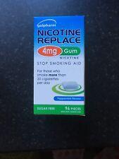 Galpharm Nicotine Replace 4mg Gum. 96 Pieces. Sugar Free