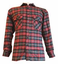 Work Brush Cotton Casual Shirt Check Flannel  Lumberjack Gardening Walking Shirt