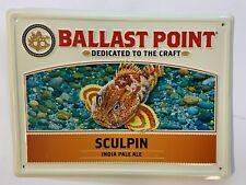 New ListingBallast Point Sculpin Ipa Tin Tacker Sign Nice Shape Breweriana Beer Lager Nice