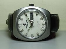 VINTAGE FAVRE LEUBA AUTO DUOMATIC DAY DATE MENS WATCH H584 WHITE DIAL OLD USED