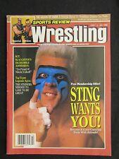 Sports Review Wrestling October 1990 Sting Road Warriors Vintage Magazine