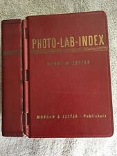 PHOTO-LAB-INDEX ~ Henry M. Lester ~ Morgan Publishers Book~ 1946 ~ HC G