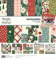 "Simple Stories Collection Kit 12""X12""-Winter Cottage"