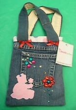 """""""DANIELLA THE BEAR"""" NEW TOTE BAG CHILD'S SCHOOL CLOTH POUCH PANTS POCKET STYLE"""