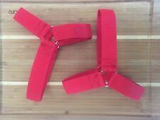 RED Roller Derby Jam Straps/ Skate Straps