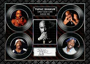 Tupac Shakur- 2PAC -ORIGINAL A4 Signed PHOTO PRINT MEMORABILIA