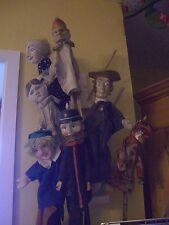 Antike Kasperle Puppen mit Handkrokodil alt!