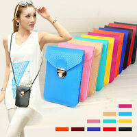 Mini PU Leather Cross-body Messenger Bag Purse Shoulder Mobile Phone Bag Wallet