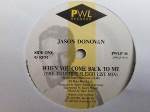 """Jason Donovan - When You Come Back To Me - 7"""" Vinyl"""