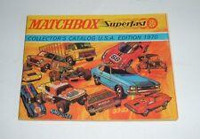 Estados Unidos Matchbox Toys, catálogo de 1970, - Excelente