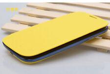 GENERIC Samsung Galaxy S3 Flip Case Copertura Protettiva sostituisce BACK GIALLO NUOVO