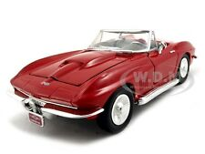 1967 CHEVROLET CORVETTE RED 1:24 DIECAST MODEL CAR BY MOTORMAX 73224