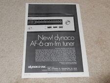 Dynaco AF-6 Sintonizzatore Annuncio, 1973, Articolo, Info, 1 Pg