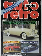 Revue AUTO RETRO moto magazine n° 66 février 1986 collection bentley continental