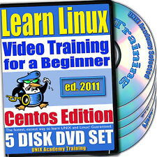 Learn Linux, 5-DVD Video Training CentOS  Set, Ed. 2011