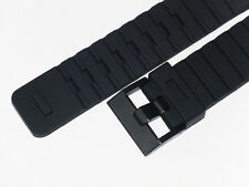 SILICON WATCH BAND BLACK RUBBER 24MM WITH STRAIGHT END