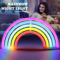 Colorful LED Rainbow Neon Night Light Colorful Sign Wall Lamp Kids Room Decro
