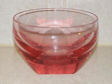 "MOSER GLASS ALEXANDRITE WISTERIA FINGER BOWL SIGNED LABEL 4 5/8"" EXCELLENT!"