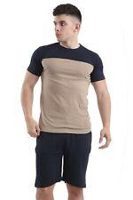 Mens Cotton Pyjamas Shorts Bottom Set Short Sleeve T Shirt Tops Pants Summer PJ