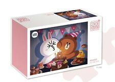 Line Friends Puzzle Hobby 800 pcs Intermediate - Birthday (Brown, Cony)