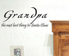Wall Sticker Decal Quote Vinyl Art Lettering Grandpa Grandfather Santa Claus K90