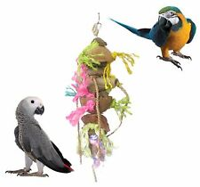 BEAKS GIANT 48 CM TROPICAL HANGING COCOA SHELL HANGING PARROT CAGE TOY FP015