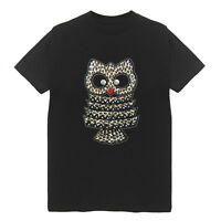 Leopard Owl Patch Women's Crew Neck T-Shirts Plus Size Cotton Bling Cute Animal