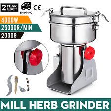 2000g Electric Herb Grain Grinder Cereal Mill Flour Powder Machine High Speed