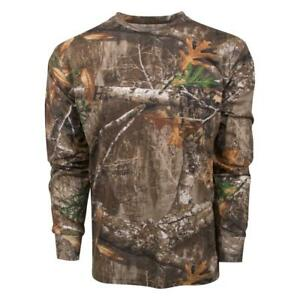 King's Camo Men's Realtree Edge Classic Cotton Long Sleeve Shirt All Sizes