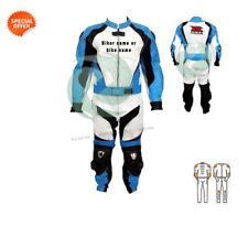 Vêtements bleus pour motocyclette
