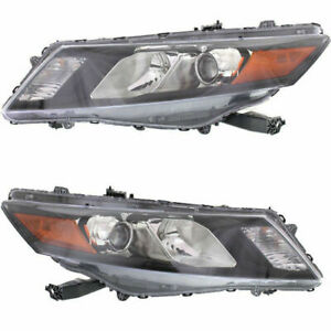 New Set Of 2 Head Lamp Assembly Left & Right Side Fits Honda Accord Crosstour