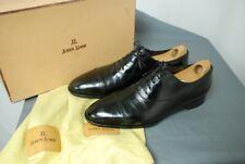 """JOHN LOBB """"Philip II"""" men's shoes black capped toe sz UK 10E / US 11 D"""